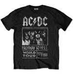 T-shirt AC/DC Highway to Hell World Tour 1979/1980