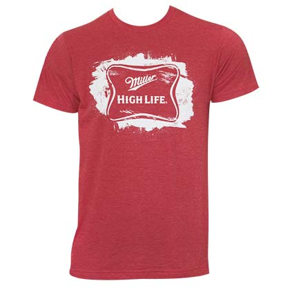 T-shirt Miller Beer High Life Sketched Logo