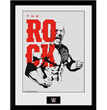 Wrestling - Wwe - The Rock (Foto In Cornice 30x40 Cm)