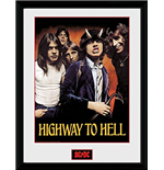 Ac Dc - Highway To Hell (Foto In Cornice 30x40 Cm)