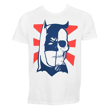 T-shirt Batman Half Skull