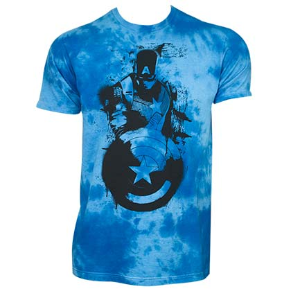 T-shirt Captain America Cloud Wash Blue