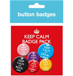 Keep Calm And Carry On (Badge Pack)