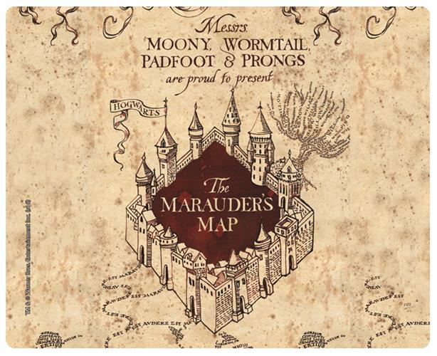 Mousepad Harry Potter Marauder Map