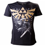 Nintendo - Black Zelda With Link (T-SHIRT Unisex TG. 2)