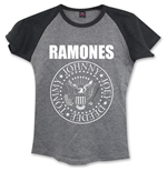 Ramones - Presidential Seal Grey (T-SHIRT Donna )