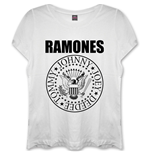 Ramones - Presidential Seal White (T-SHIRT Donna )