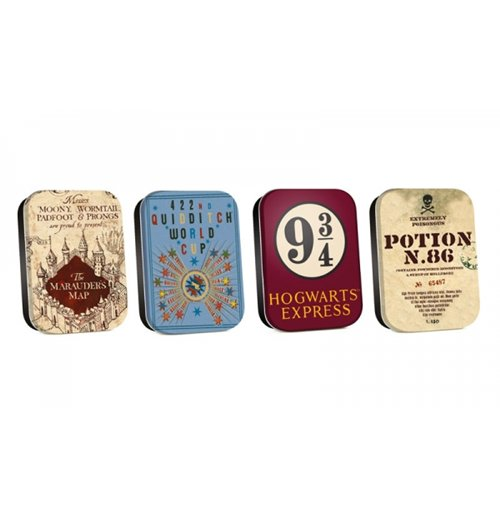 Harry Potter - Map (Set 4 Scatoline Metalliche)