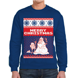 Adventure Time - Merry Christmas (felpa Unisex )