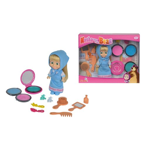 Acquista masha e orso bambola masha 12 cm colora capelli for Masha e orso stampa e colora