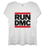 Run Dmc - Logo White (T-SHIRT Donna )