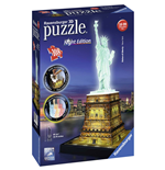 Ravensburger 12596 - Puzzle 3D Night Edition - Statua Della Liberta'