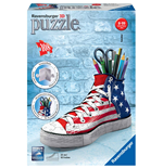 Ravensburger 12549 - Girly Girl - Sneaker Flag - Puzzle Portapenne 108 Pz