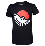 T-shirt Pokemon - I Choose You Black