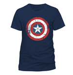 T-shirt Captain America - Ca Shield Distressed