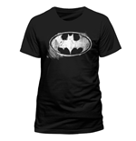 T-shirt Batman - Logo Mono Distressed