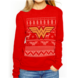 Wonder Woman - Fair Isle Logo (felpa Unisex )