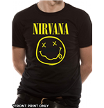 Nirvana - Smiley Logo Front Print Only (T-SHIRT Unisex )
