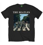 T-shirt The Beatles - Abbey Road With Logo Black
