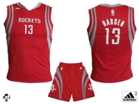 Houston Rockets MINI-KIT Harden Rosso