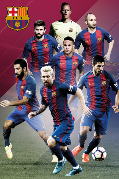 Poster Barcellona Players 16/17
