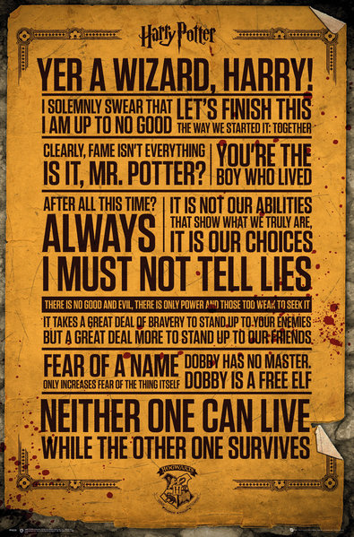 Poster Harry Potter Quotes