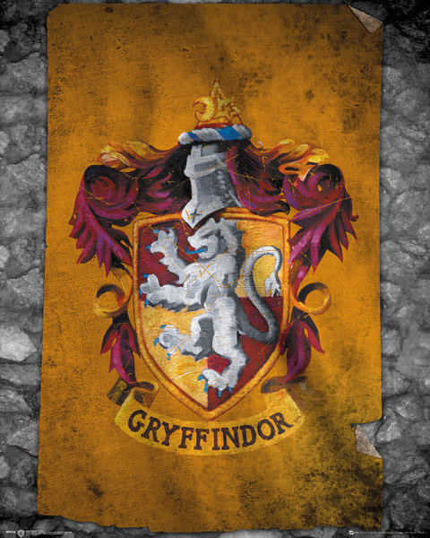 Poster Harry Potter Gryffindor Flag