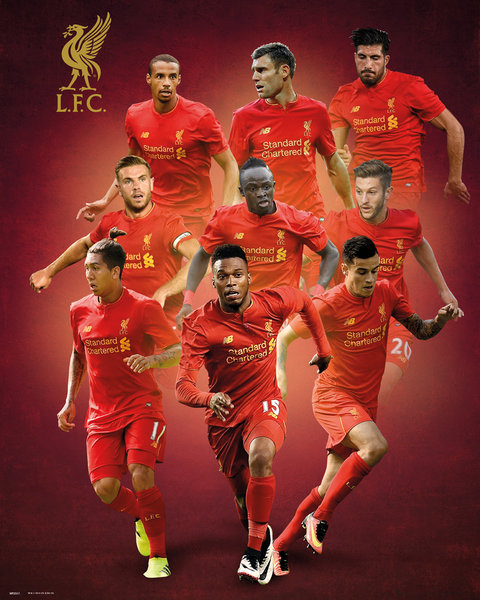 Mini Poster Liverpool Players 16/17