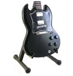 Ac/Dc - Angus Young - Gibson Sg Back In Black (Chitarra In Miniatura)