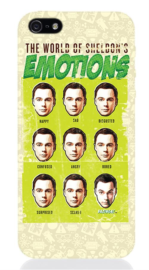 Cover Iphone 5 The Big Bang Theory SHELDON'S Emotions