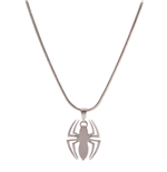 Marvel - Spider-Man Logo Silver Necklace Pendant Necklaces F Silver