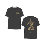 T-shirt The Legend of Zelda Breath of the Wild - Golden Game Logo