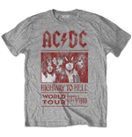 AC/DC - Highway To Hell World Tour 1979/1980 Special Edition Grey (T-SHIRT Unisex TG. 2)