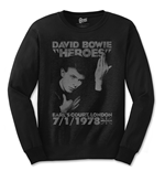 David Bowie - Heroes Court (T-SHIRT Manica Lunga Unisex )