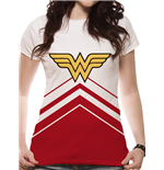 Wonder Woman - Cheer Leader Logo (fitted T-SHIRT Donna )