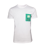 Adventure Time - White Printed Chestpocket (T-SHIRT Unisex )