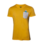 Adventure Time - YELLOW, Backprint & Chestpocket (T-SHIRT Unisex )