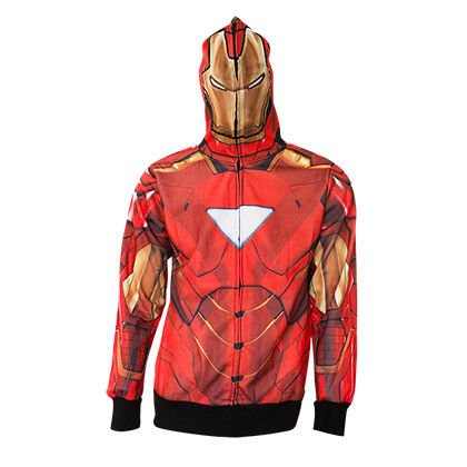 Felpa Iron Man Full Zip Costume