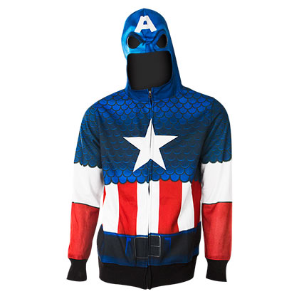 Felpa Captain America Full Zip Costume