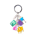Adventure Time - Finn, Jake, Beemo, Lumpy, Princess Bubblegum & Charms Multicolor (Portachiavi In Metallo)
