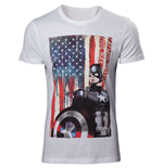 Captain America - Civil War White (T-SHIRT Unisex )