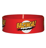 Braccialetto in gomma Big Bang Theory - Bazinga Red
