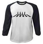 T-shirt The Beatles - Raglan Baseball Abbey Road Crossing