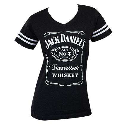 T-shirt Jack Daniel's Striped Soccer da donna