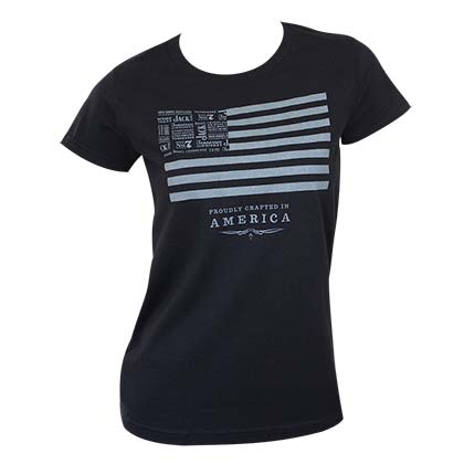 T-shirt Jack Daniel's Crafted In America  da donna
