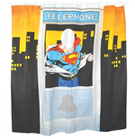 Superman - Shower Curtain Telephone Box (Tenda da Doccia)