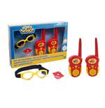 Super Wings - Set Avventura Base - 2 Walkie Talkie, Occhialoni Da Aviatore, Spille