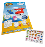Super Wings - Quadernone - Album Da Disegno Con Stickers Attacca-Stacca