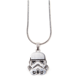 Star Wars - Stormtrooper Helm Silver Necklace Pendant Necklaces U Silver