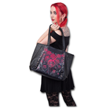 Spiral - Blood Rose - Tote Bag Top Quality Pu Leather Studded (Borsa)
